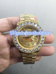 Wholesale High Priced Watches - Men's diamonds watches 18K gold watch gold strap stainless steel watch case chronograph movement high-end watches promotional price