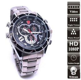 Wholesale 16gb Night Vision Recorder Watch - Hot Sales HD 1080P Waterproof SPY Watch Camera DVR with IR Night Vision 16GB 32GB Hidden Camcorder Recorder