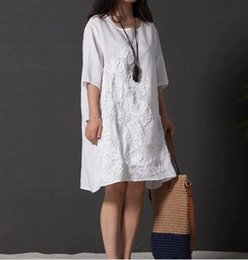Wholesale Cheap Cotton Maternity Dresses - Plus size dress summer woman maternity dress solid color fashion casual dress lady floral print short dress for womens clothe cheap dress