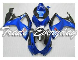 Wholesale Half Fairing - Injection Mold Fairing With Rearseat Cover Half Tank Cover Fit GSXR 600 750 K6 06-07 GSXR600 GSXR750 2006-2007 Blue Black NG56