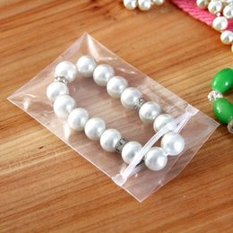 """Wholesale Clear Plastic Bags Jewellery - 100Pcs  Lot 6*8cm Self Seal Zipper Bags PPE 2.36""""x3.14"""" Clear Poly Anti-oxidation Jewellery Boutique Valve Plastic Package Pouch"""