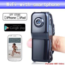Wholesale Digital Recorder Wireless - WiFi IP Camera Mini DV Wireless IP Camera P2P Camera Mini Camcorder Digital Video Recorder Mini DVR NEW MD81 MD81S