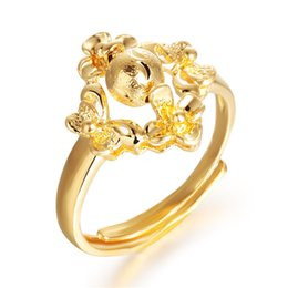 Wholesale Korean Ring Prices - Korean version of the new direct factory price 18K gold plated cute female ring tail ring gift KJ025 Ms.