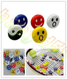 Wholesale Funny Shocking - Funny facial expression tennis vibration dampeners tennis racket damper shock absorber for Tennis