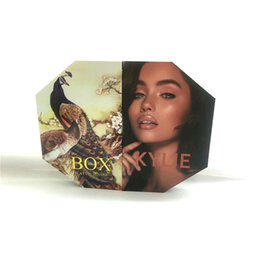 Wholesale Mascara Liners - New The Box by Kylie Jenner Makup Set Peacock Box Collection Makeup set Highlighter Mascara Lipstick Lip liner Eyeshadow DHL Free