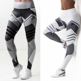 Wholesale Butt Lifting Pants - Women's Digital Printing Tracksuits Butt Lift Yoga Clothes High Waist Leggings Polyester absorb sweat Ventilation Nine Pants