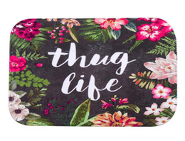 Wholesale Fleece Rug - 40*60cm Flower Bath Mats Anti-Slip Rugs Coral Fleece Carpet For For Bathroom Bedroom Doormat Online