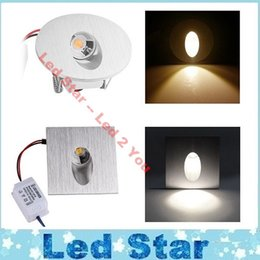 Wholesale Stair Step Lights - Square Round LED Recessed Light Wall Lamp 3W Decoration LED Basement Bulb Porch Pathway Step Stair Light AC 85-265V