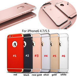 Wholesale Armor Back - Ultra Slim 3 In 1 Shockproof Back Cover Rose Gold Color Luxury Frosted Armor Case For Iphone x 7 6plus 8 Samsung s7 s7edge note8