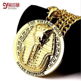 Wholesale Egypt Charms - 2016 New Vintage Egypt Charm Necklace Pharaoh King Men Hip Hop Gold Silver Egypt Pharaohs Necklaces & Pendants For Men Women