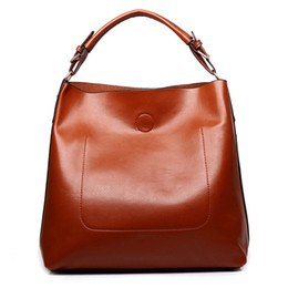 Wholesale Bright Leather Bags - Wholesale-women leather casual shoulder bag bright surface luxury women designer handbags high quality famous brand ladies sac hand bags