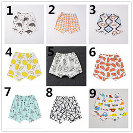 Wholesale Baby Boys Denim Shorts - INS Boys Harem Pants 2016 Summer Geometric Animal Print Baby Boy PP Pants Girls Shorts Pants Brand Kids Baby Clothing K7134