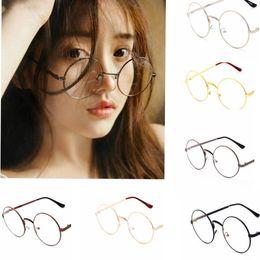 Wholesale Full Metal Cosplay - Metal Fram Eye Dress Up Glasses Harry Potter Style Glasses vintage Cosplay Harry Potter round Glasses 6 design KKA2807
