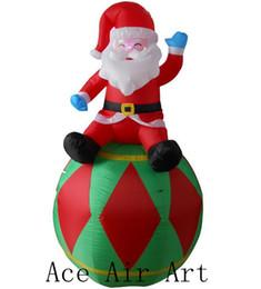 Merci gonfiabili gonfiabili di Babbo Natale di 6 piedi di lunghezza B2B situate su un palloncino sulla decorazione dell'ornamento dell'ornamento da merci del cortile fornitori