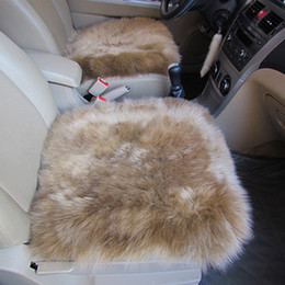 Wholesale Warming Seat Cushion - 1PCS Front Car Seat Covers Blend Wool Fur Cute Furry Car Interior Accessories Cushion Styling Winter Warm Car Seat Pad