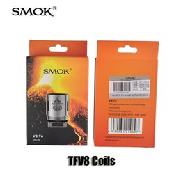 Wholesale Replacement Atomizer Tanks - Authentic Smok TFV8 Coils V8-T8 V8-T6 V8-Q4 V8-X4 Replacement Coil head for TFV8 Cloud Beast Tank Atomizer DHL