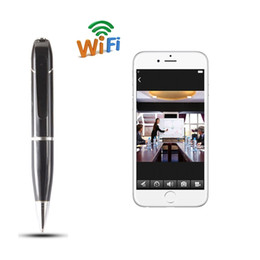 Wholesale Wifi Baby Monitor Recorder - 720P HD Wifi Video Hidden Pen Camcorder Wifi Spy Pen HD Camera Monitoring Security Audio Video Recorder Wireless Covert Baby Monitor