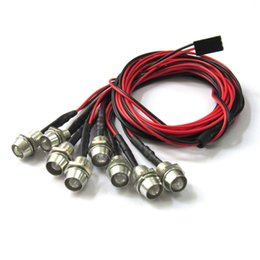Wholesale Led Taillight Car - 8Leds LED Light Set Headlight Taillight for 1 10 RC Car Truck Crawler HSP Tamiya