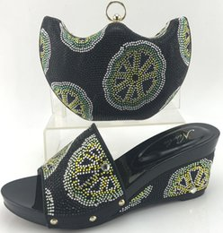 Wholesale Slippers Set Mop - Latest Italian Shoes and Bags To Match Shoes with Bag Set Decorated with Stone African Shoes and Matching Bag Italian ME7708