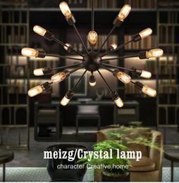 Wholesale Live Spiders - American Industrial Loft Vintage Pendant Light 12 15 16 18 20 Head Sputnik Bar Spider Lights With Eedison Bulbs modern fixtures lighting