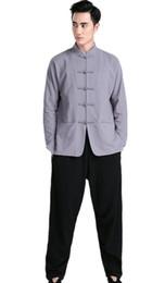 Argentina Envío gratis Mezcla de Lino artes marciales tai chi ropa trajes de kung fu chino kimono jiu jitsu wushu uniformes artes marciais 4 Color cheap kimono xl Suministro