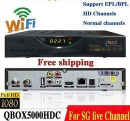 Wholesale Singapore Cable Receiver - New Version 2016 latest blackbox starhub Singapore cable tv Qbox HD receiver set top box QBOX 5000HDC qbox tv box+fr wifi dongle