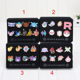 Wholesale Metal Dolls - New arrival Pocket doll Badge Pins Eevee Sylveon Flareon Glaceon Umbreon Zinic Alloy Brooch Action Figures toys