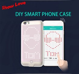 Wholesale Protect Flash - 2016 Show Love Lightning Call Intelligent Flash Cool LED To Protect Shell Case For iPhone 6 6s Free Shipping
