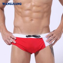 Wholesale Super Sexy Men Swim Briefs - WJ Men's Swimming Man Swimwear Mens Swim Wear Briefs Sexy Shorts Men Super Slim Fit Swimsuit Splice Fashion Beach Wear
