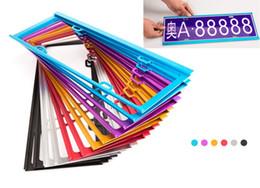 Wholesale Wholesale License Plates Frames - 2 PC Magnesium Alloy License Plate Frame License Plate Frame 6 Colors Options