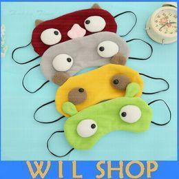 Wholesale Sleep Mask Cartoon Eyes - DHL Free Ship,300Pcs Cartoon Funny Sleeping Eye Mask Cute Anti Snoring Blindfold Sleeping Shade Cotton Cover Blindfold