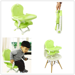 Wholesale Plastic Folding Chairs Tables - New Chair for babies Multi-purpose Folding dinning chair light weight easy traverl carry a chair for infant feeding children table seat