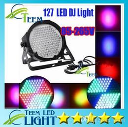 Wholesale Dmx512 Rgb Controller - DHL Super bright High Power high quality Led Stage light 127 LEDs DMX512 Led lamp RGB Par Light Led Flat DJ Equipments Controller
