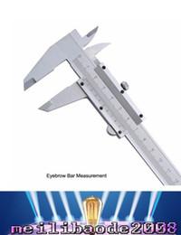 "Wholesale Caliper Tools - Eyebrow Bar Measurement Vernier Caliper 6"" 0-150mm 0.02mm Metal Calipers Gauge Micrometer Measuring Tools eyebrow measurement MYY"