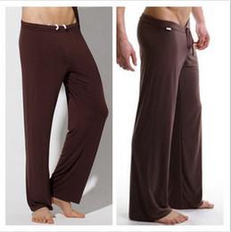 Wholesale Modal Sleepwear - Wholesale-Hot Brand New 2016 Modal Autumn Summer Winter Men Sport Yoga Pants Sleep Bottoms Men Sexy Long Underwear Men Sleepwear
