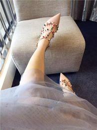 Wholesale Designer Gems - tailor made~b112 40 41 42 genuine leather gems pointy strappy heels shoes sandals luxury designer
