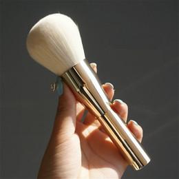 Wholesale Aluminum Faces - Very Big Beauty Powder Brush Blush Foundation Make Up Tool Large Cosmetics Aluminum Brushes Soft Face Makeup