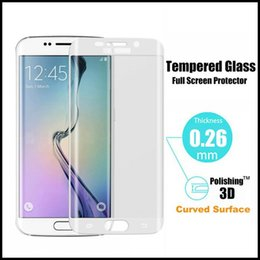 Wholesale Privacy Screen Protector Galaxy - For Samsung Galaxy S6 Edge colorful tempered glass 0.2mm 3D Full Cover 9H screen protectors privacy film S7 edge iphone 6S Plus