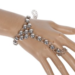 Wholesale Vintage Slave Bracelet - 12pcs lot Luxury Vintage Link Chain Slave Bracelet Hand Finger Tennis Bracelets Women Bridal Wedding Jewelry 3 Styles