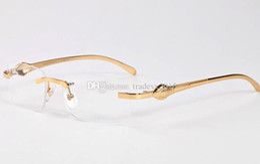 Wholesale Oculos Titanium - New Buffalo Horn Sunglasses Men women girl boy gold silver metal frame Sun Glasses Wholesale Oculos De Sol Feminino Gafas De Sol