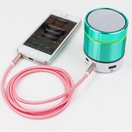 Canada 1 M 3FT Tressé AUX Audio Câble Tissu Tissu 3.5mm Métal Tête Cordon Mâle À Mâle Stéréo Ligne De Extension Pour Voiture Téléphone Haut-Parleur Offre