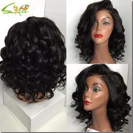 Wholesale Human Hair Lace Wigs White - 100% unprocessed virgin brazilian hair body wave cheap human lace front wigs white women 150% density human hair full lace wigs