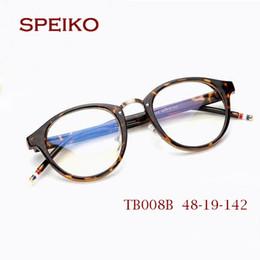 Wholesale tb brand - TB008B Retro Fashion Glasses Oculos TB Eyeglasses New York Brand round Frame 50mm with original case