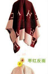 gradiente alaranjado pashmina Desconto Zhu Lance Cobertor Casa de Viagem Outono Inverno Mulheres Cachecol Xale Cobertores Quentes Quentes Grande Marrom / Preto / Laranja 145x145 cm