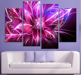 Wholesale Cheap Purple Wall Art - Free Shipping Cheap abstract Modern Wall Painting purple pink flower Home Decorative Art Picture Paint on Canvas Prints