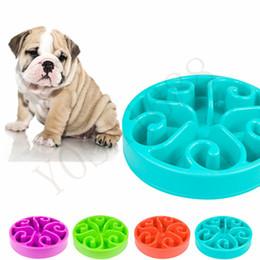 Wholesale Slow Dog Food Bowl - 20cm Round Anti Choke Pet Dog Bowl Feeder Funny Slow Down Eating Feeder Dish Pet Bowl Cat Food Alimentador Lento