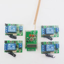 Récepteurs d'émetteur sans fil 433mhz en Ligne-Système sans fil d'ampoule de kits de récepteur de relais de retard de contrôle d'émetteur de 5V 433MHz