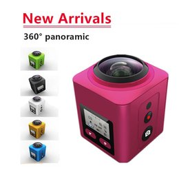 Wholesale Panoramic Camera - 2016 Wireless 360 Degree Panoramic Sports Action Camera 4K 30FPS Ultra HD Sport Cam 1080P 60FPS 360*220 Wide-angle Panorama VR video Cameras