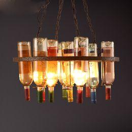 Wholesale Modern House Decorating - LOFT Creative Designer Coffee House Wine Bottle Pendant Lamp Dinning Room Bar Decorate Special Living Room Art Light