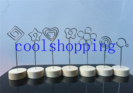 Wholesale Photo Wires - multi-shaped wire place card holder,memo photo clip,picture clamp,wedding decoration